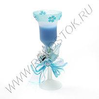 Свеча гелевая ″Лазурин-2″ 20 см купить оптом и в розницу