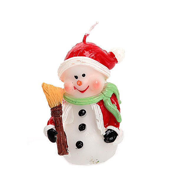 Свеча Новогодняя ″Снеговичок″ 8 см купить оптом и в розницу
