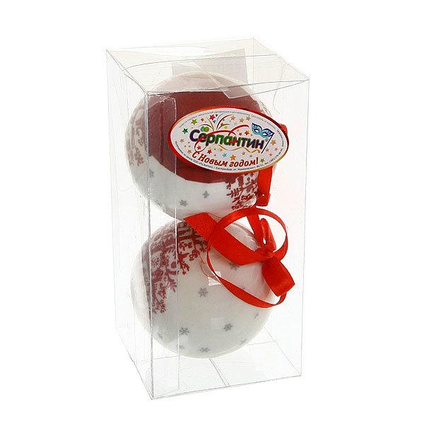 Новогодние шары (2шт) 8см ″Елочка″ А5600159А купить оптом и в розницу
