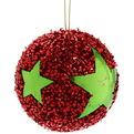 Новогодние шары ″Рождественская звезда″ 8см (набор 3шт.) купить оптом и в розницу