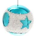 Новогодние шары ″Северная звезда″ 8см (набор 3шт.) купить оптом и в розницу