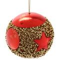 Новогодние шары ″Красная звезда″ 8см (набор 3шт.) купить оптом и в розницу