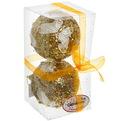Новогодние шары ″Золото с кружевными бабочками″ 10см (набор 2шт.) купить оптом и в розницу