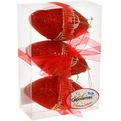 Ёлочные игрушки, набор 3шт, 8см″Кружево рубин″ Орнамент купить оптом и в розницу