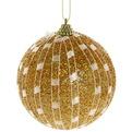 Новогодние шары ″Золотая сетка″ 10см (набор 2шт.) купить оптом и в розницу
