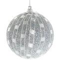 Новогодние шары ″Серебряная сеточка″ 8см (набор 3шт.) купить оптом и в розницу