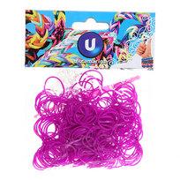 Резинки для плетения 300шт фиолетовые с крючком и S-клипсами купить оптом и в розницу