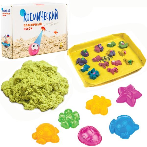 Набор ДТ Космический песок Желтый 1 кг. песочница и формочки кор. купить оптом и в розницу