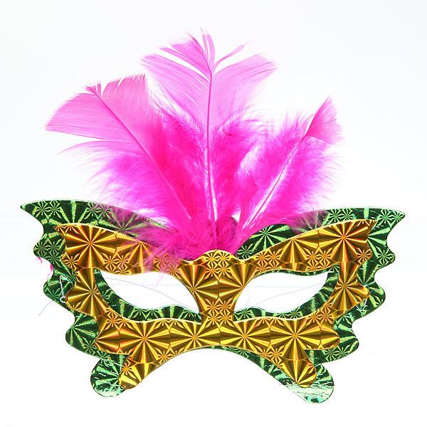 Маски карнавальные ″Голограмма″ Перо 3шт купить оптом и в розницу