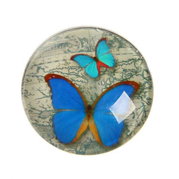Магнит из стекла ″Бабочки″ d-4см 37-С купить оптом и в розницу