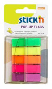 Закладки Hopax 45*12 5цв по 40л, Z-блок,пластик купить оптом и в розницу