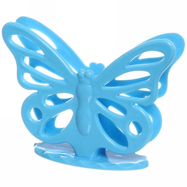 Салфетница ″Бабочка″ голубая купить оптом и в розницу