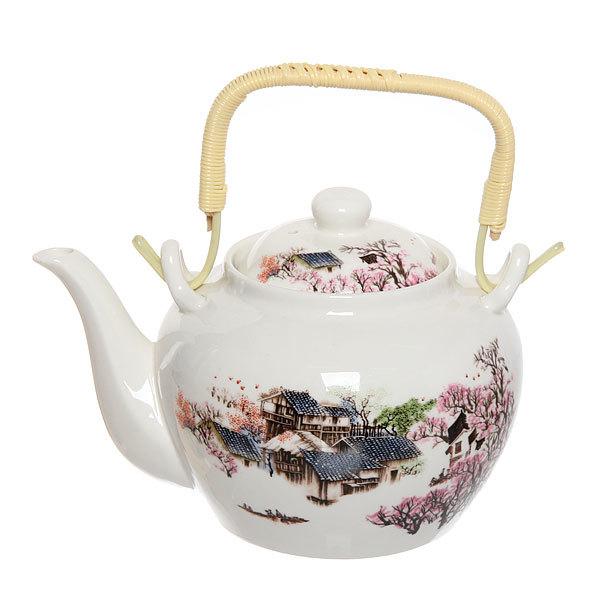 Чайник заварочный керамический 750 мл ″Сакура″ купить оптом и в розницу