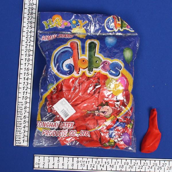 Воздушный шар 10″/25см (набор 100штук) Кристалл Красный (100шт) купить оптом и в розницу
