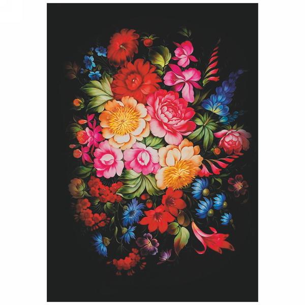 Доска разделочная 29*21*0,5см ″Цветочный букет″ купить оптом и в розницу