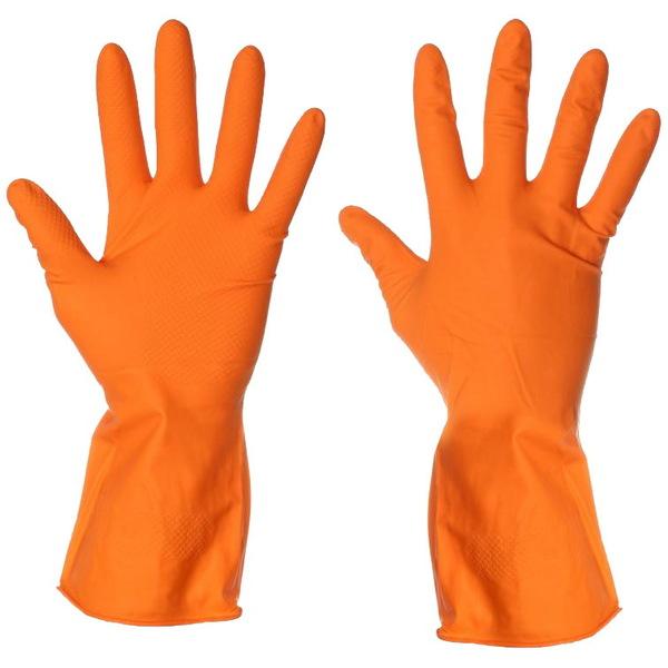 Перчатки хозяйственные ″Русалочка″, резиновые cheap line большие купить оптом и в розницу