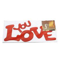 Наклейка интерьерная зеркальная 22*10см Любовь 5226 2 цвета купить оптом и в розницу