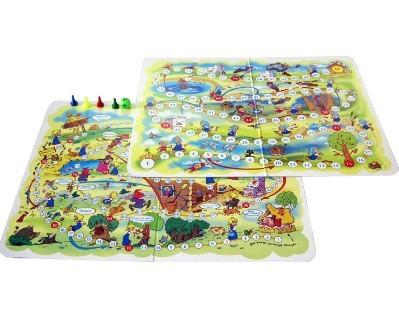 Игра ходилка Гуси-лебеди, Баба-Яга 2 в 1 00178 /10/ купить оптом и в розницу