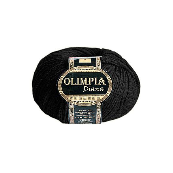 Пряжа для руч.вяз.″Olimpia Diana″ цв.14 черная (ш-50%, акр-50%) 500г купить оптом и в розницу