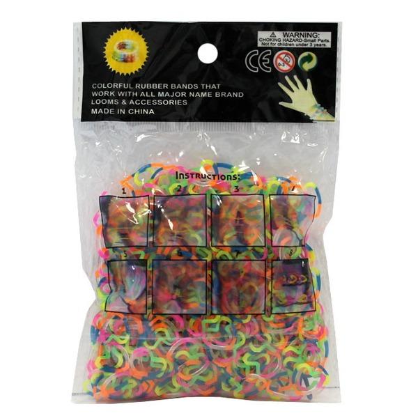 Набор ДТ Изготовление браслетиков Разноцветные 600 шт. 0146BN СМАЙЛЦЕНА купить оптом и в розницу
