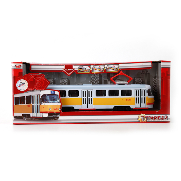 Модель 600-36002XHR Трамвай Технопарк  в кор. купить оптом и в розницу
