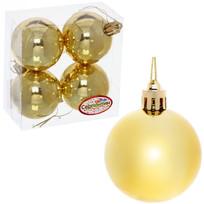 Новогодние шары 5 см (набор 4 шт) ″Глянец″, золотой купить оптом и в розницу