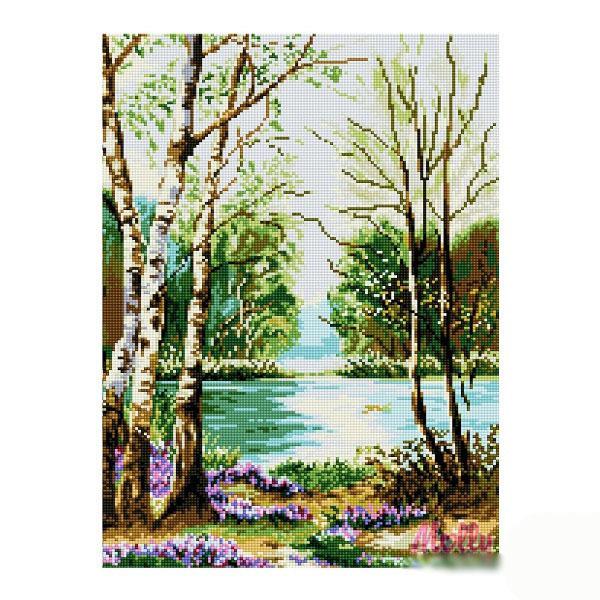 Набор ДТ Картина мозаикой Ранняя весна GZ203 купить оптом и в розницу