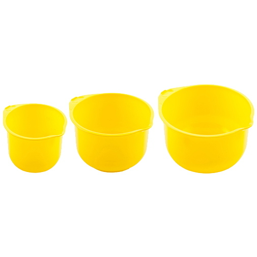 Миска пластиковая в наборе 3 шт (2л; 2,75л; 3,75л) *8 (ПБ) 38000 купить оптом и в розницу