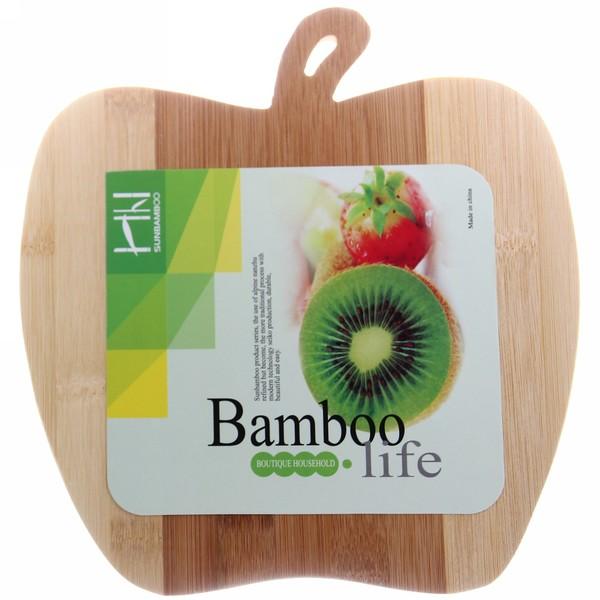 Доска разделочная из бамбука ″Яблоко″ 21,5*24*1см купить оптом и в розницу
