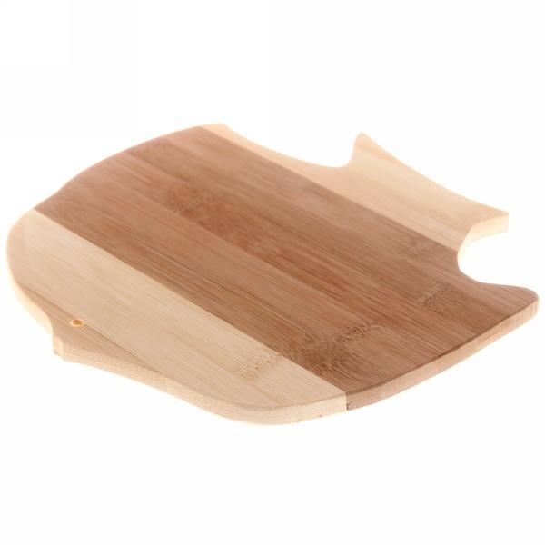 Доска разделочная из бамбука ″Рыбка″ 22*22*1см купить оптом и в розницу