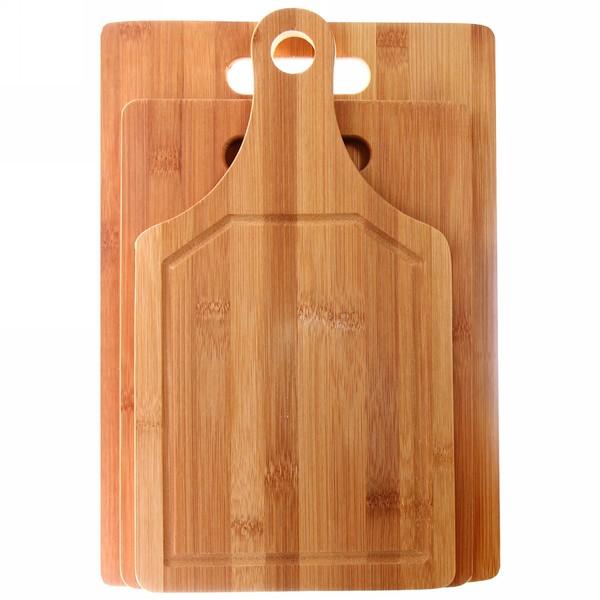 Доска разделочная из бамбука в наборе 3шт( 33*25см,28*20см, 33*18см) купить оптом и в розницу