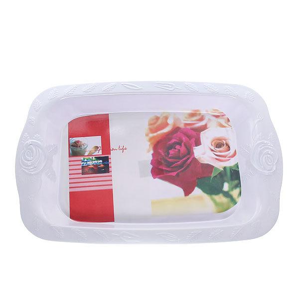 Поднос ″Розы″ 43*28 см ZZJ5007-17 купить оптом и в розницу