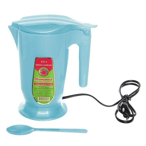 Чайник электрический Минутка 0,6 л голубой купить оптом и в розницу