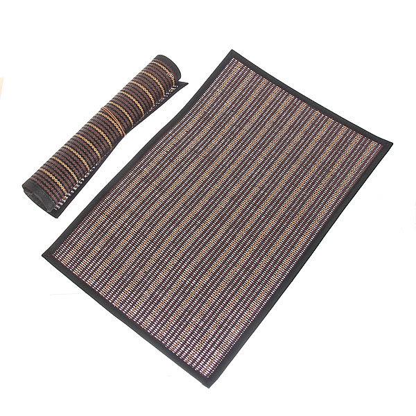 Салфетка на стол 30*45см плетеная, с кантом темная две штуки купить оптом и в розницу