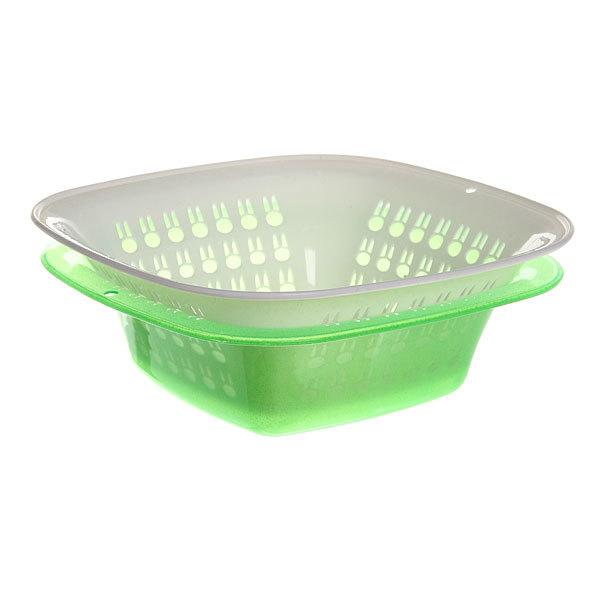 Дуршлаг пластиковый для овощей с поддоном 24,5*8 см 0317 купить оптом и в розницу