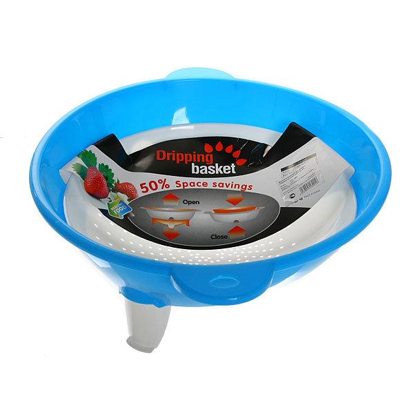 Дуршлаг пластиковый для овощей с поддоном на ножках 32,5*11см купить оптом и в розницу