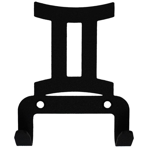 Крючок универсальный, серия ″Зодиак″, модель ″Близнецы символ - 2″, цвет черный купить оптом и в розницу