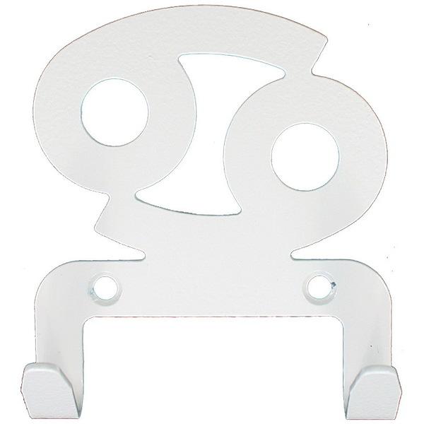 Крючок универсальный, серия ″Зодиак″, модель ″Рак символ - 2″, цвет белый купить оптом и в розницу