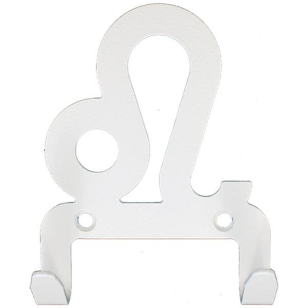 Крючок универсальный, серия ″Зодиак″, модель ″Лев символ - 2″, цвет белый купить оптом и в розницу