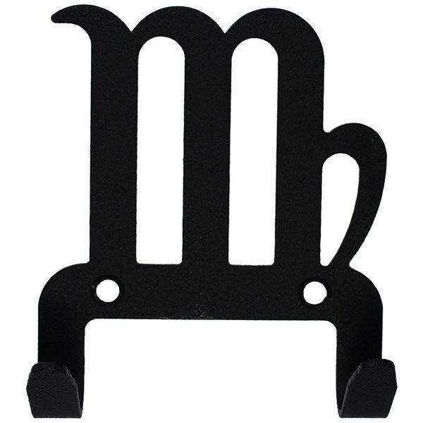 Крючок универсальный, серия ″Зодиак″, модель ″Дева символ - 2″, цвет черный купить оптом и в розницу