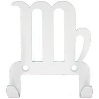Крючок универсальный, серия ″Зодиак″, модель ″Дева символ - 2″, цвет белый купить оптом и в розницу
