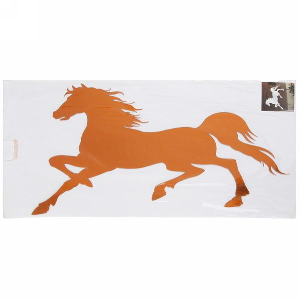 Наклейка интерьерная зеркальная 60*40см Конь 5101 2 цвета купить оптом и в розницу
