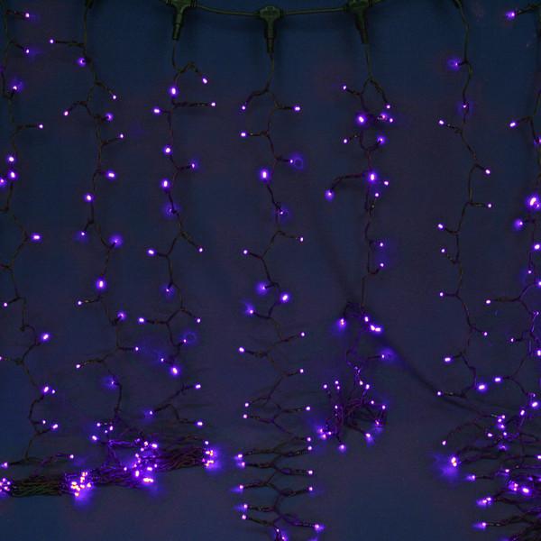 Занавес светодиодный уличный ш2*в3м, 432 лампы LED,″Дождь″,Синий, 8реж, черн.пров купить оптом и в розницу
