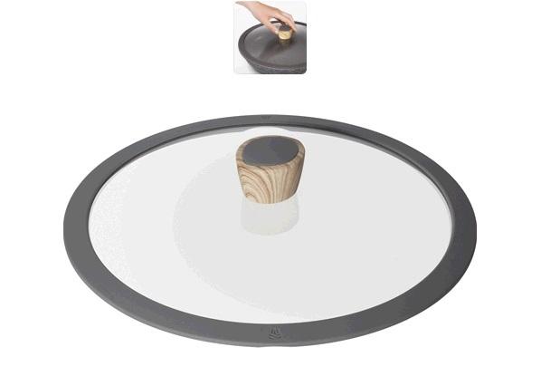 Стеклянная крышка с силиконовым ободом, 28 см, серия MINERALICA * 6 купить оптом и в розницу