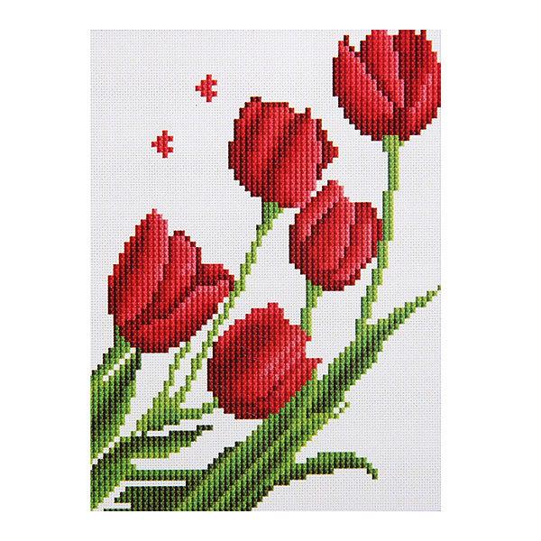 Набор для вышивания бисером 26*20,5см Тюльпаны MY8801 купить оптом и в розницу