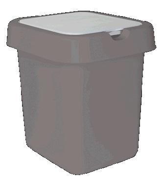"""Контейнер для мусора """"Квадра"""" 9 л серебряный * 8 купить оптом и в розницу"""