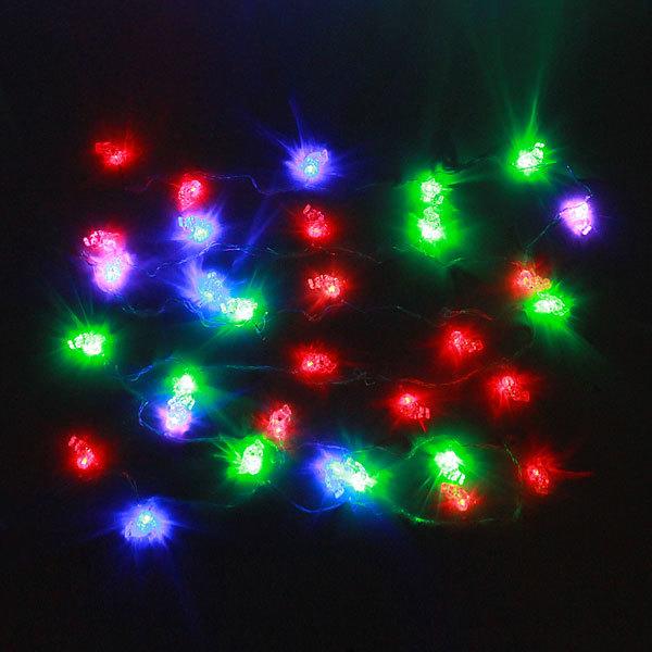Гирлянда светодиодная 5,5м, 32 ламп LED, Купидон, RG\RB(красный,зеленый/красный,синий)) +Игрушка мягкая -подвеска купить оптом и в розницу