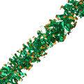Мишура новогодняя 2 метра 8см ″Куранты″ зеленый, золото купить оптом и в розницу