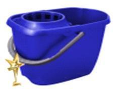 Ведро МОП с отжимом прямоугольное 13л  синий *14 купить оптом и в розницу