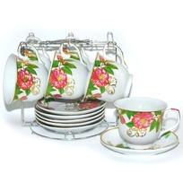 Набор чайный 12 предметов на металлической подставке ″Барбарис″ (6 чашек, 6 блюдец) купить оптом и в розницу
